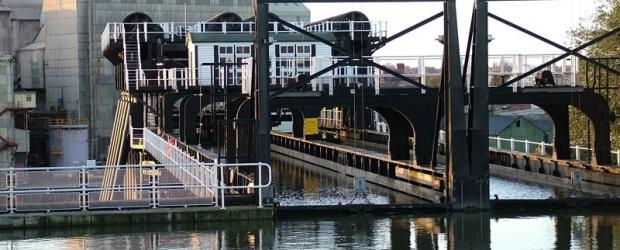 Entering the Anderton Boat Lift