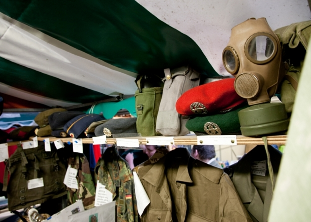 The Army Clothing & Collectables Stall on Northwich Outdoor Market