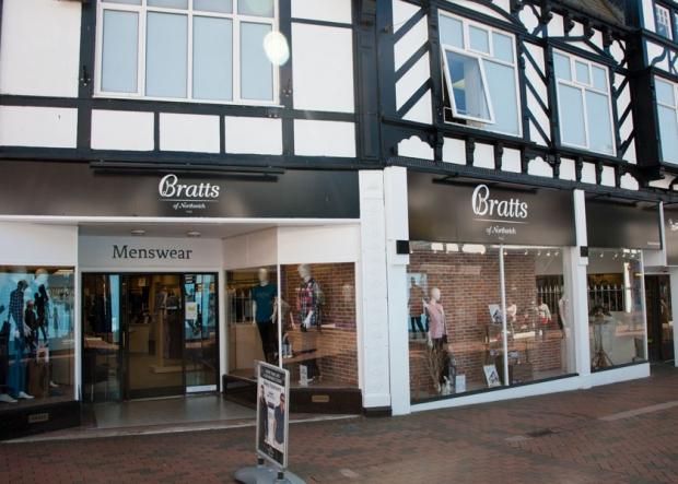 Bratts Menswear Shop on Witton Street