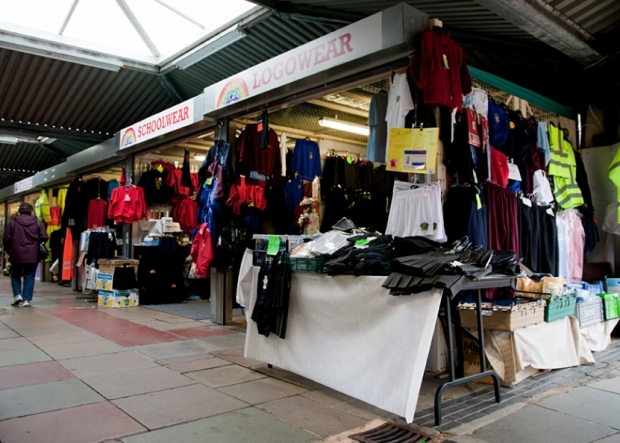 Julie Clare School, Work & Logo Wear on Northwich Outdoor Market