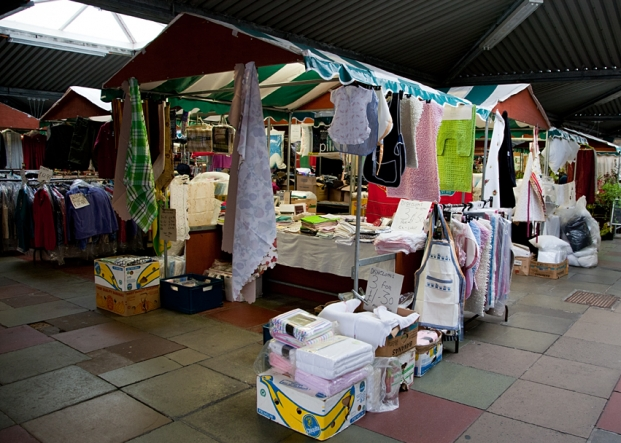 Quality Textiles on Northwich Outdoor Market