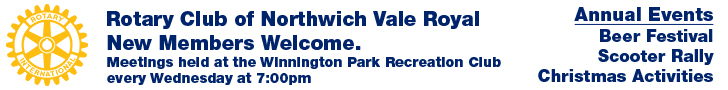 New Members Welcome.  Meetings held at the Blue Cap Hotel, Sandiway  every Wednesday at 7:30pm