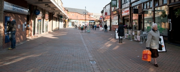Looking up the High Street in Northwich